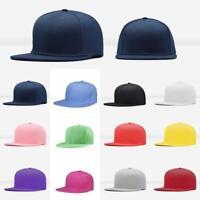 Men Blank Plain Snapback Hats Unisex Hip-Hop Adjustable Bboy Baseball Caps LI