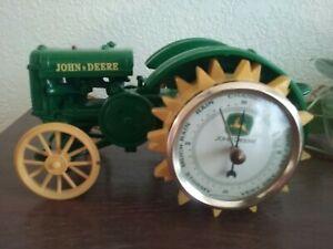 John Deere 1935 Tractor with barometer in wheel