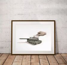 Brand New Escif Credit War Screen Print Edition of 90 Signed Numbered street art