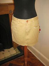 SEVEN JEANS 7 sexy mini SKIRT 12-14 RP£100 new retro mod vintage tan