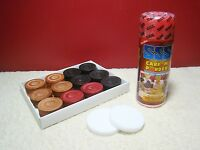 Carom Board Coins 24 Carrom Men Piece +2 Strikers + 140g Powder India Board Game