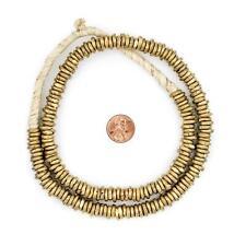 Ghana Brass Donut Beads 9mm African Ring Large Hole 27 Inch Strand Handmade