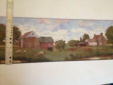 Scenic Stone Farm House And Barn Prepasted Wallpaper Border # Ct1870Bd