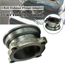 "2.5""- 3in S.S. Car V-Band Turbo Downpipe 4 Bolt Exhaust Flange Adapter Universal"