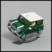 Mini Cooper acrylic display stand for LEGO model 10242