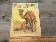 Feet And Wings Vintage Antiquarian Book , Four Footed Friends Series