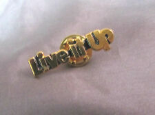 """""""LIVE IT UP"""" GOLD TONE LAPEL TACK PIN 1/4"""" X 1"""""""