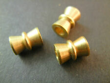 20pc 10mm Gold Solid Brass Large Hole Hourglass Tube Metal Heavy Beads