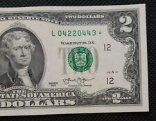 2013 $2 Star* (~California ~) Crisp Old Us Paper Money Untouched