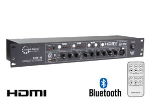 Full HD HDMI 4x2 Matrix Switcher with Professional Audio Mixer with Bluetooth