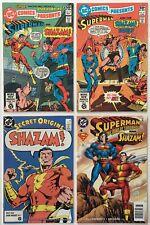 DC Comics Presents #s 33 34, Secret Origins 3 Shazam, Superman Man of Tomorrow 4