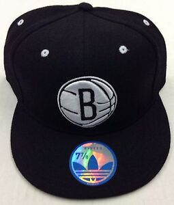 NBA Brooklyn Nets Adidas Fitted Cap Hat Beanie Style #G062M NEW!