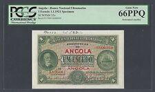 Angola One Escudo 1-1-1921 P55s Specimen Uncirculated