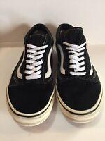 Vans Off The Wall Men's Size 6.5 Women's Size 8 Black White  Lo Sneakers ~Fire~