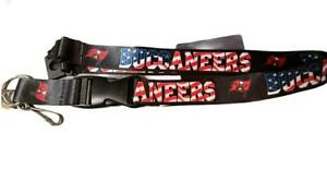 Tampa Bay Buccaneers America Red, White, Blue Like USA Flag Lanyard New Licensed