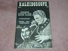 KALEIDOSCOPE 1962 fanzine, Ray Harryhausen, Buster Crabbe, Lon Chaney, Burroughs