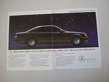 advertising Pubblicità 1990 MERCEDES BENZ 200 CE / 300 CE