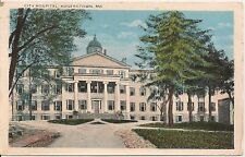 City Hospital Hagerstown MD Postcard 1928