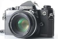 [Near MINT] Nikon FE Black 35mm SLR Nikkor Ai 50mm f/1.8 Lens From JAPAN  #1046