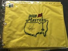 Fred Couples Center Signed 2018 Masters Golf Flag 1992 Champion Woods Nicklaus