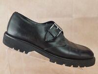Donald J Pliner Mens Monk Strap Oxford Size 9.5 Black Leather Dress Shoe Italy
