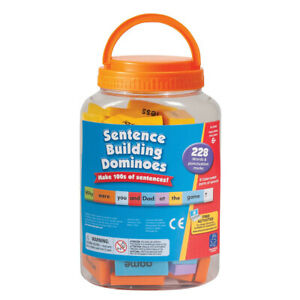 Sentence Building Word Dominoes for Children - Simple Sentence Games