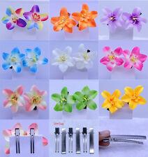 9colors NEW Fashion Bridal Hair Accessories Hairpin Silk Flower Hair Clip Prom