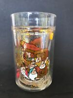 Snow White and the Seven 7 Dwarfs Drinking Glass Tumbler Glitter Snow Globe Type