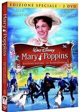 DISNEY Mary Poppins 45° (2 DVD)- raro con slipcover in rilievo e celophan