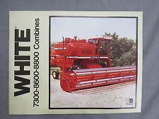 Vintage White Farm Equipment Combine Sales Brochure Catalog 7300 8600 8800 early