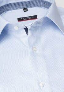 Eterna Modern Fit Hemd -blau Twill 100% Baumwolle