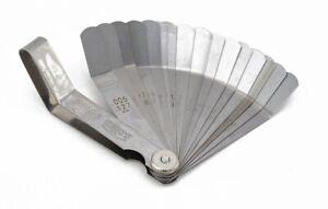 S-S16PG 16pc Feeler Gauge Set Imperial Metric 45º Blades Offset Precision Tappet