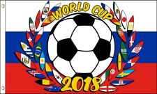 2018 FIFA Football World Cup Russia 32 Nations Football Flag 5x3'