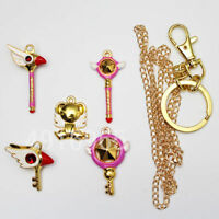 A Set Anime CARDCAPTOR SAKURA Necklace&Keychain Pendant Lovely Card Captor
