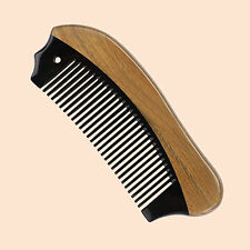 Beard Comb Pocket Horn Wooden Detangling Fine Tooth Sandalwood Hair Comb Brush