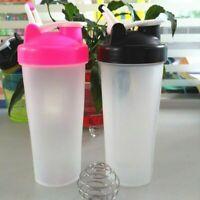 600ml Protein Shaker Bottle Nutrition Whey Mix NO LOGO Black PP PE Beauty