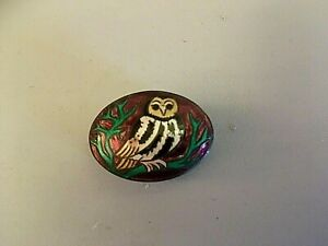 925 stamped silver pill box depicting an owl    21/519