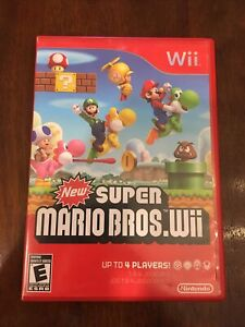 New Super Mario Bros. Wii (Nintendo Wii, 2009) Complete Manual Tested Working