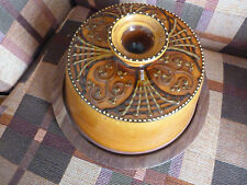 Studio Pottery - Cheese Dome With Wooden Base / board good condition