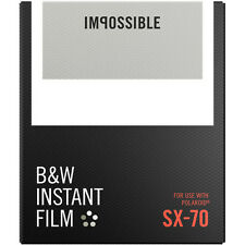 Impossible Black & White Instant Film for Polaroid Sx-70 Cameras (white frame)