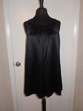 Betsey Johnson Shift Dress Tunic Silk Charmeuse Black Evening Mod Retro sz 6