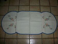 """VINTAGE  HAND CROCHET & NEEDLE POINT TABLECLOTH TABLE RUNNER SIZE 17 """" x 41"""""""
