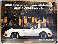 orginal Porsche Plakat Poster Fahren in seiner schönsten Form  Porsche 911 SC