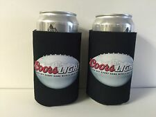 Coors Light Texas Longhorns Beer Koozie Can Bottle Cooler Two (2) Pack NEW & F/S