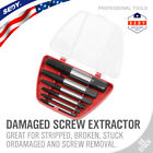 6 PC Screw Extractor Set Easy Out Drill Bits Guide Broken Screws Bolt Remover