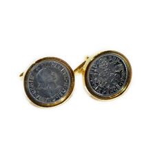 CUFFLINKS Genuine Lucky Sixpence Coin Collector Party Christmas Present GIFT Box