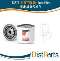 LF3376 Fleetguard Lube Filter, Spin-On Replaces Bobcat 6675517