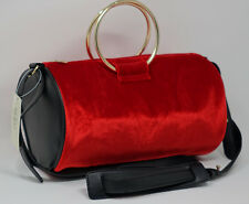 Brand New NWT Guess Women's Mini Red Velvet Duffle Bag Crossbody Purse Handbag