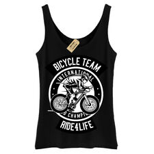 Bicycle Team T-Shirt Ride for life Vest Womens