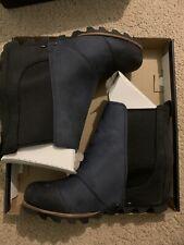 Women's Sorel Lea Wedge Boot New Waterproof Black Navy Blue Ankle 8.5
